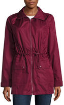 ST. JOHN'S BAY St. John's Bay Packable Wind Resistant Water Resistant Raincoat