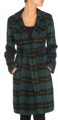 GUESS Checkmate Plaid Coat