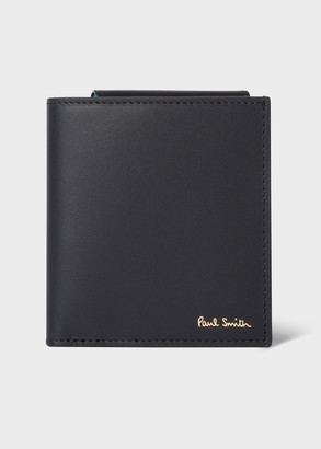 Paul Smith Signature Stripe Interior 'Folded' Leather Compact Billfold Wallet