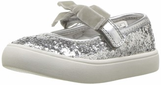 Carter's Girls' Carte's Angelyn Silver Casual Maryjane Mary Jane Flat 5 M US Toddler
