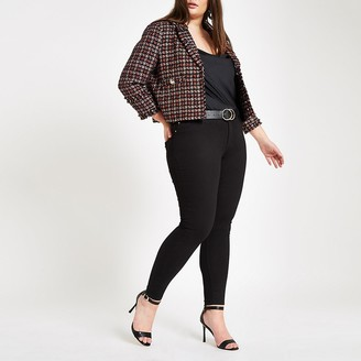 River Island Plus black Molly mid rise jeggings
