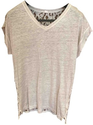 120% Lino Grey Linen Top for Women