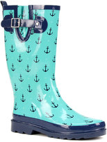 Western Chief Teal Dotty Anchors Rain Boot