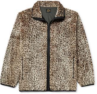 Needles Grosgrain-Trimmed Leopard-Print Faux Fur Jacket