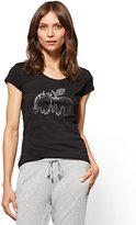 """New York & Co. Rhinestone """"Love New York City"""" Graphic Logo Tee"""
