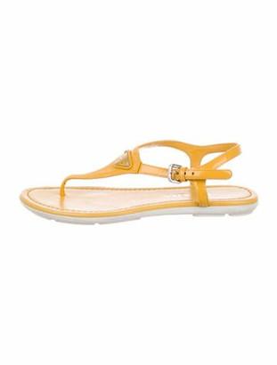 Prada Patent Leather Sandals Yellow
