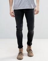 Nudie Jeans Nudie Skinny Lin Super Skinny Jeans Used Black