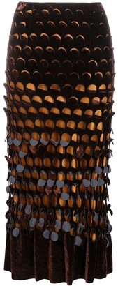 Maison Margiela High-Waist Cut-Out Midi Skirt