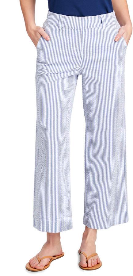 Vineyard Vines Seersucker High Waist Cropped Pants