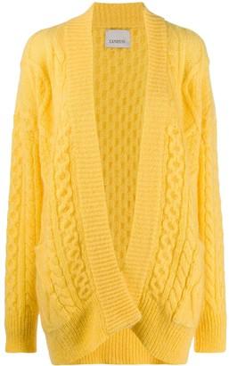 Laneus Oversize Cable Knit Cardigan