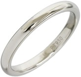Harry Winston 950 Platinum Simple Marriage Ring Size 4.5