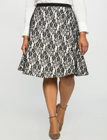 ELOQUII Plus Size Lace Skater Skirt