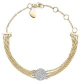 Meira T 14K White Gold and Yellow Gold Pave Diamond Disc Bracelet