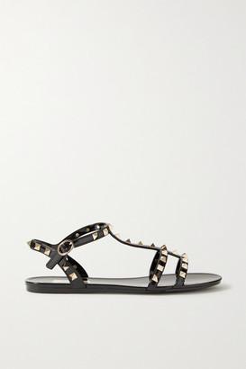 Valentino Garavani Rockstud Rubber Sandals - Black