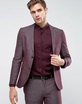 Jack and Jones Skinny Suit Jacket In Texture