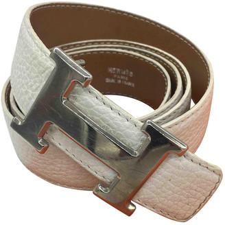 Hermã ̈S HermAs H White Leather Belts