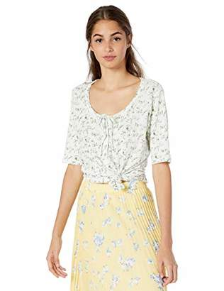 Lucky Brand Women's 1/2 Sleeve Floral Top