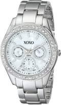 XOXO Women's Rhinestone Accent Tone Bracelet Watch XO5301A