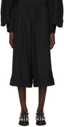 Comme des Garcons Black Wool Wide-Leg Trousers