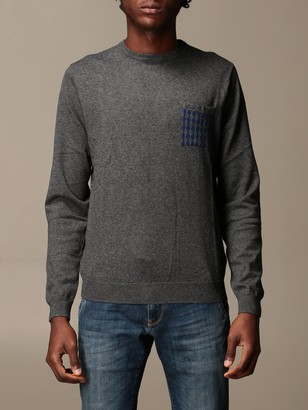 Sun 68 Crewneck Sweater With Printed Patches