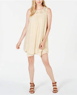 Style&Co. Style & Co Lace-Yoke Handkerchief-Hem A-Line Dress