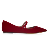 Tabitha Simmons Hermione point-toe velvet flats