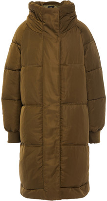 Maje Quilted Shell Hooded Coat