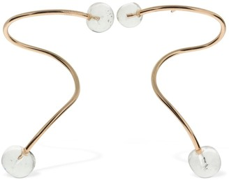clear Annika Inez DOUBLE DEW GLASS EARRINGS