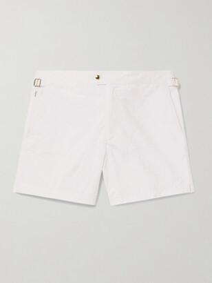 Tom Ford Slim-Fit Mid-Length Swim Shorts - Men - White