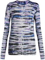 Proenza Schouler Long-sleeved cotton tie-dye T-shirt