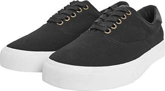 Urban Classics Low Sneaker With Laces, Unisex Adults' Low-Top Trainers, Multicoloured (Blk/Wht), (38 EU)