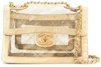 Chanel Pre Owned 1994-1996 Double Chain Shoulder Bag