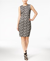 Calvin Klein Printed Petite Sheath Dress
