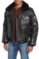 Schott NYC Men's Genuine Shearling Collar G-1 Flight Jacket