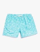 Pacifique Elastic Boardshort in Aqua