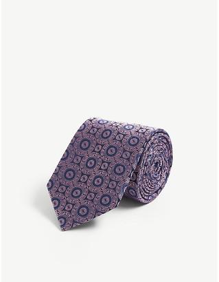 Ted Baker Cordial geometric pattern silk tie