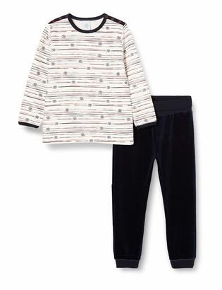 Sanetta Baby_Boy's Pyjama Long Broken White Pajama Set