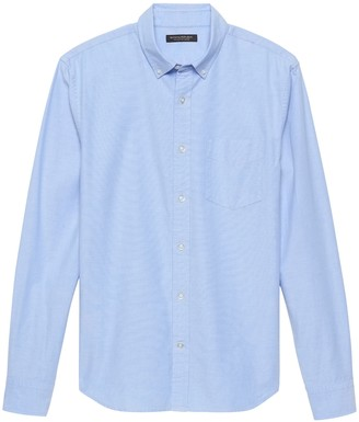 Banana Republic Untucked Slim-Fit Cotton Oxford Shirt