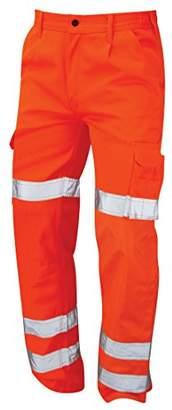 Workwear World WW6 Condor Hi Vis Visibility Orange Interior Knee Pad Pocket Combat Cargo Work Wear Trousers (S)