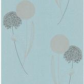 Graham & Brown Allium Blue Wallpaper Sample - Blue