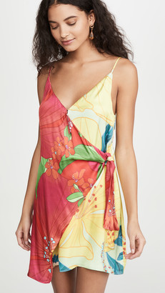Farm Rio Mixed Pietra Mini Wrap Dress
