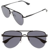 Le Specs Women's The Prince 57Mm Aviator Sunglasses - Black