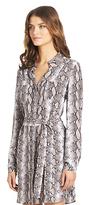 Camo Polly Silk Shirt Dress