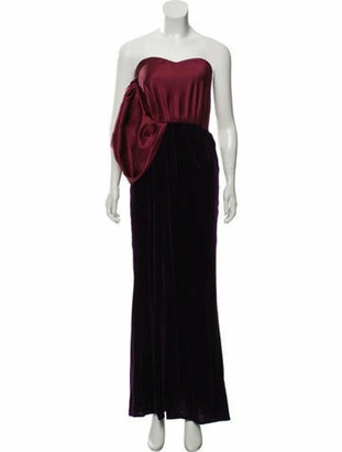 Oscar de la Renta One-Shoulder Evening Dress Purple