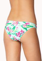 Forever 21 Hibiscus Print Bikini Bottom