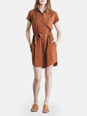 Bridge & Burn Merit Button Front Shirt Dress