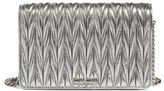 Miu Miu Women's Matelasse Wallet On A Chain - Metallic