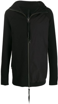 Army Of Me Longline Zipped Front Hoodie