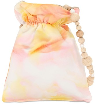WALD BERLIN Linen Batik Dye Duchess Satin Bag