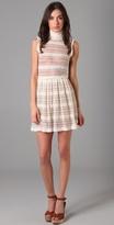 High Collar Pleated Dress